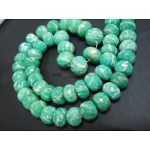 Amazonite Faceted Rondelle Beads Gemstone