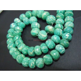 Amazonite Faceted Rondelle Beads Gemstone