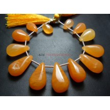 Yellow Aventurine Gemstone Briolette Beads