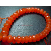 Red Carnelian Faceted Roundelle Beads Gemstone