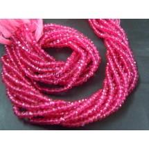 Pink Crystal Mystic Coated Quartz Rondelle Faceted Beads Gemstone