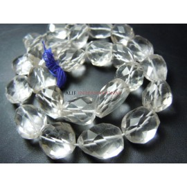 Crystal Quartz Faceted Nuggets Beads Gemstone