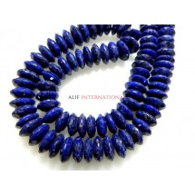 Corundum Blue Sapphire German Cut Rondelle Beads Gemstone