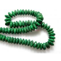 Corundum Emerald German Cut Roundelle Beads Gemstone