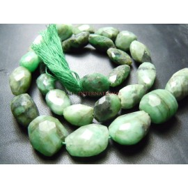 Emerald Faceted Nuggets Beads Gemstone