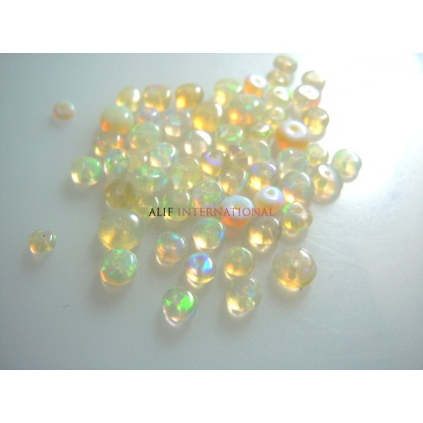 AAA Quality Natural Ethiopian Opal Beads Size-3-3.5MM Sold By Small Lot Of 58 Beads