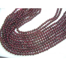 Red Garnet Smooth Round Ball Beads Size-5MM Approx