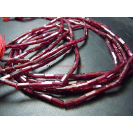 Red Garnet Faceted Heishi  Cube  Shape Beads Size- 4x8MM Approx