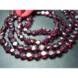 Red Garnet Gemstone  Faceted Heart Shape Gemstone Beads