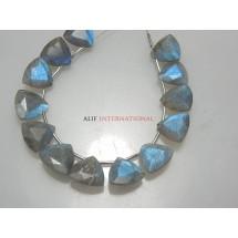 Labradorite Trillion Cut Stone Beads Gemstone
