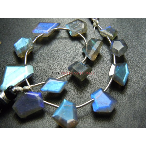 Blue Fire Labradorite Fancy Cut Shape Briolette Gemstone Beads