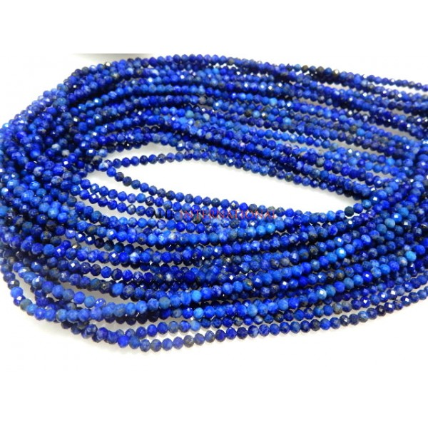 Lapis Lazuli Rondelle Faceted Beads Gemstone