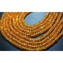 AAA Quality Natural Mandarine Garnet Faceted Roundel Beads Size 4-5MM Approx Wholesale