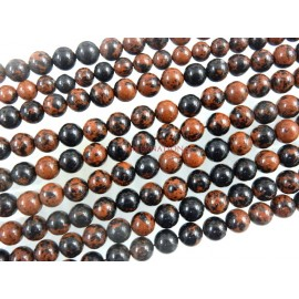 Mahogany Obsidian Smooth Round Ball Gemstone Beads 7MM