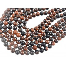 Mahogany Obsidian Smooth Round Ball Gemstone Beads 6MM