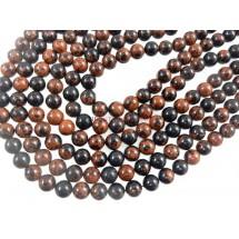 Mahogany Obsidian Smooth Round Ball Gemstone Beads 6MM