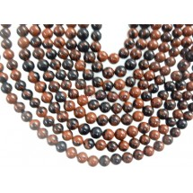 Mahogany Obsidian Smooth Round Ball Gemstone Beads 7MM
