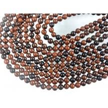 Mahogany Obsidian Smooth Round Ball Gemstone Beads 8MM