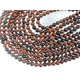 Mahogany Obsidian Smooth Round Ball Gemstone Beads 8MM
