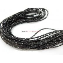 Moissanite Diamond Rondelle Faceted Beads