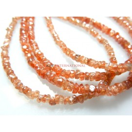 Natural Champagne Zircon from the earth Rough Rondelle GemstoneBeads