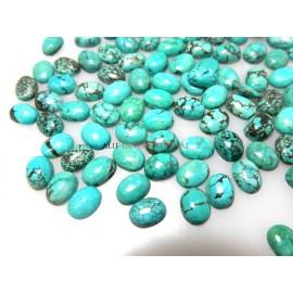 Natural Tibetan Turquoise Cabochon Gemstone