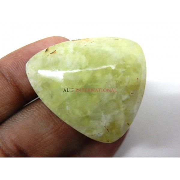 prehnite cabochon pear yellow drops gemstone