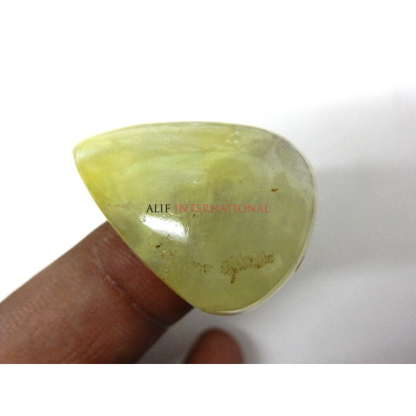 Yellow-Prehnite Cabochon Gemstone 24x34MM Pear Drops