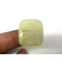 Yellow-Prehnite Cabochon Gemstone 22x25MM Square