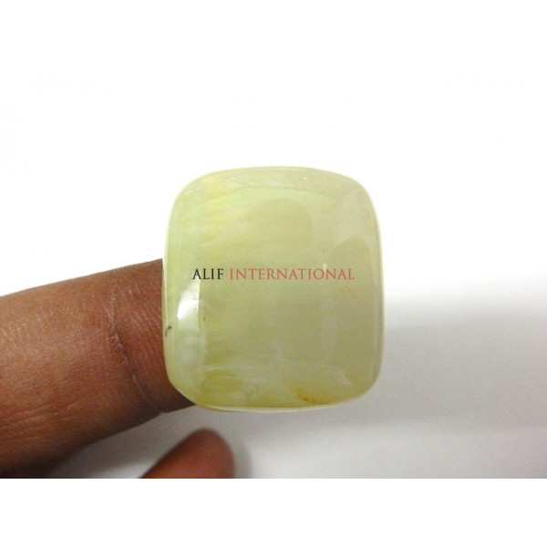 Yellow-Prehnite Cabochon Gemstone 22x25MM Square