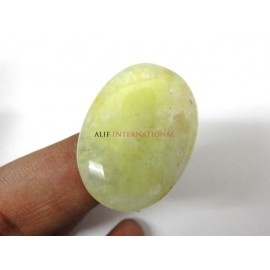 Yellow-Prehnite Cabochon Gemstone 25x33MM Oval