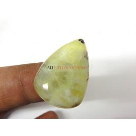 Yellow-Prehnite Cabochon Gemstone 20x28MM Pear Drops