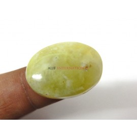Yellow-Prehnite Cabochon Gemstone 20x28MM