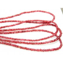 Red Spinal Faceted Rondelle Beads Gemstone
