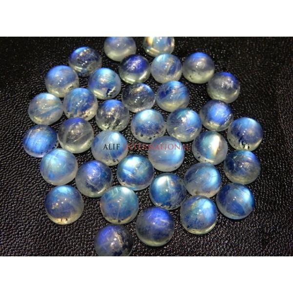 Rainbow Moonstone Blue Fire Cabochon 10x10MM Wholesale
