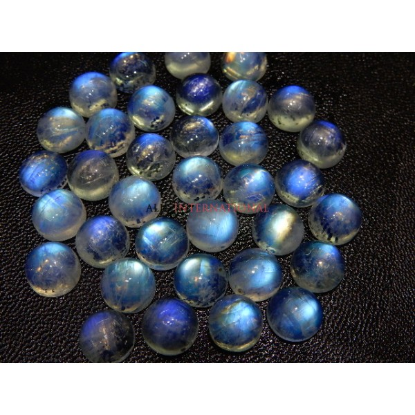 Rainbow Moonstone Blue Fire Cabochon 8x8MM Wholesale