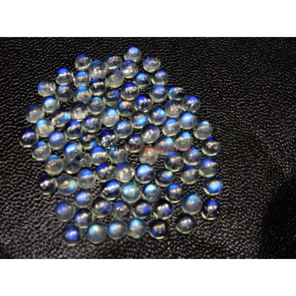 Rainbow Moonstone Blue Fire Cabochon 4x4MM Wholesale