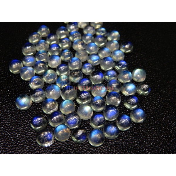 Rainbow Moonstone Blue Fire Cabochon 5x5MM Wholesale