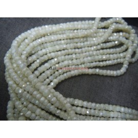 Silverite Faceted Rondelle Gemstone Beads