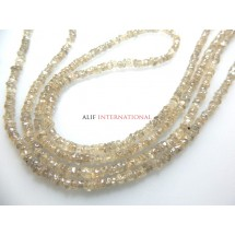 Natural Champagne Zircon from the earth Rough Roundelle Gemstone Beads