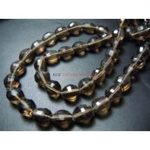 Smokey Quartz Step Cut Cube Shape Beads Gemstone