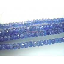 Blue Tanzanite Faceted Rondelle Beads