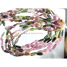Multi Tourmaline Smooth Nuggets Beads Gemstone
