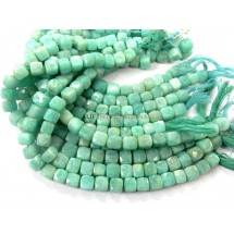 Amazonite Faceted Box Gemstone Beads 8-10MM 8'' Strand Wholesale