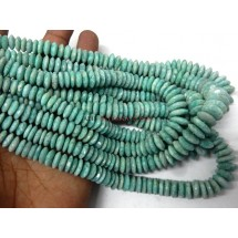 Amazonite-Beads Amazonite German Cut Beads Rondelle AAA Quality 8-12MM
