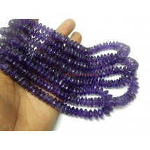 Amethyst-Beads Amethyst German Cut Rondelle Beads AAA Quaity Size 8 To 12MM