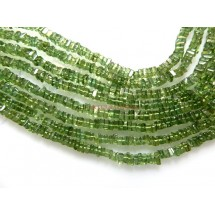Green Apatite Smooth Heishi Shape  Gemstone Beads