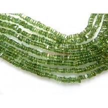 Green Apatite Smooth Heishi Shape  Gemstone Beads