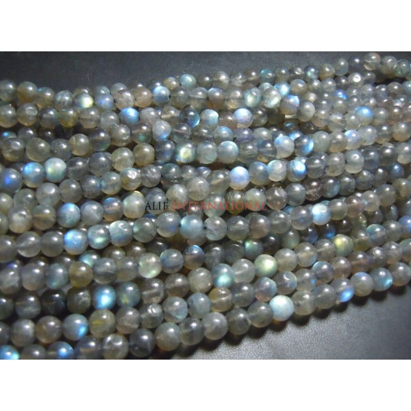 Labradorite Round Ball Smooth Beads Gemstone