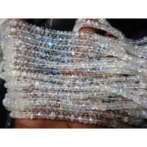 Rainbow Moonstone Rondelle faceted  Beads Gemstone